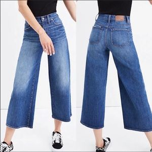 Madewell Wide-Leg Crop Jeans Med Wash